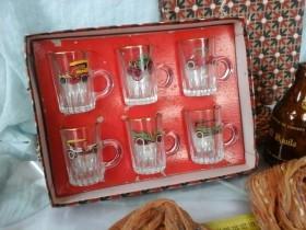 Colección vasitos de chupito años 70. Coches clásicos.